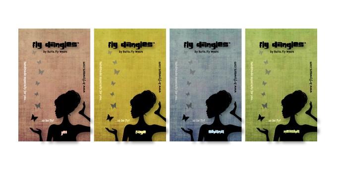 Butta.Fly Wears | Fly Dangles Earring Cards