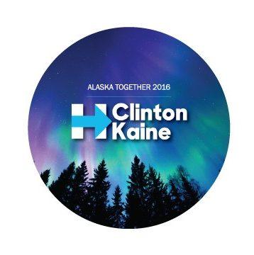 Alaska Democratic Party | Clinton Kaine Button