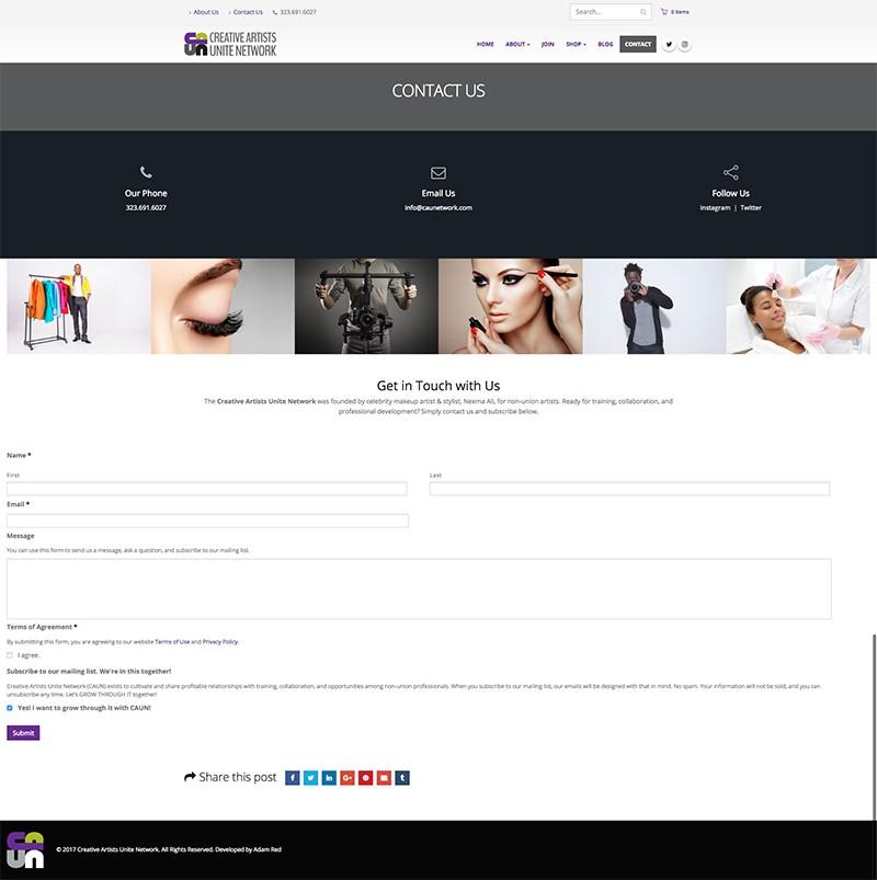 Adam Red | Creative Artists Unite Network Website