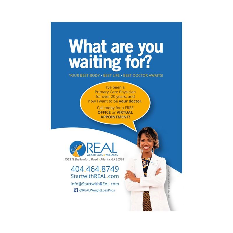 Adam Red | REAL Weight Loss + Wellness Postcard
